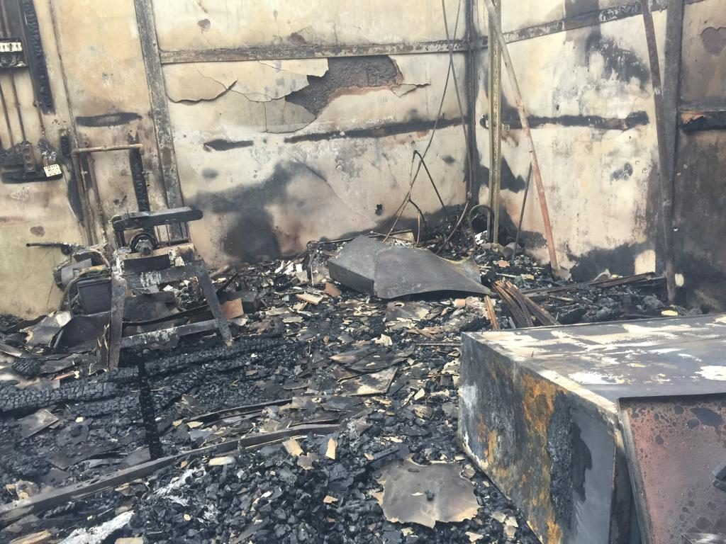 Burnt out building 2