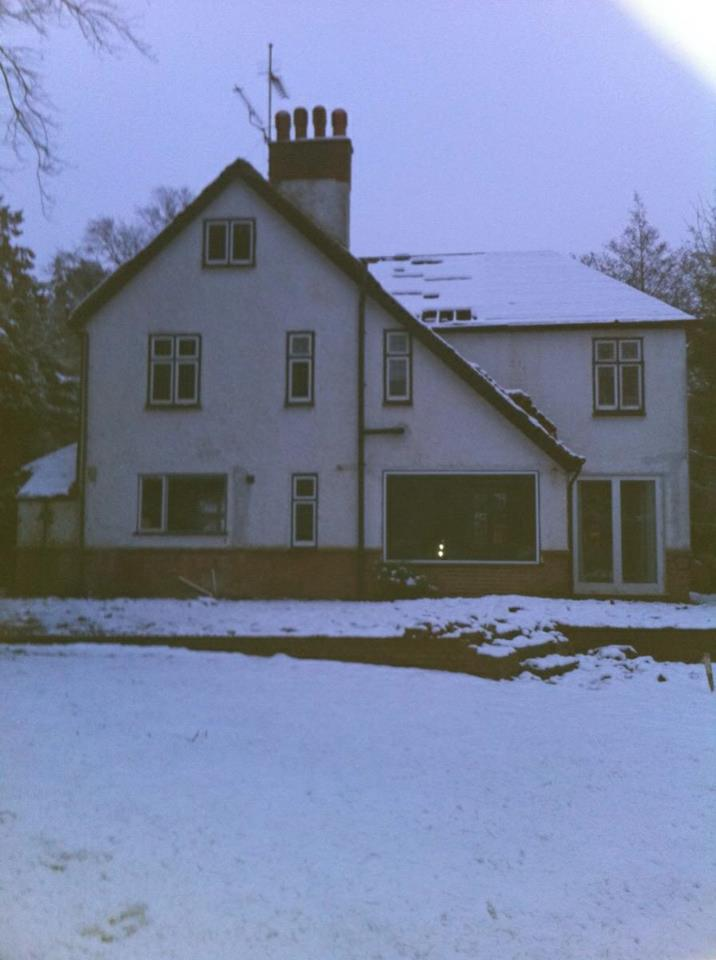 House in Drayton before (and the snow didn't stop us)