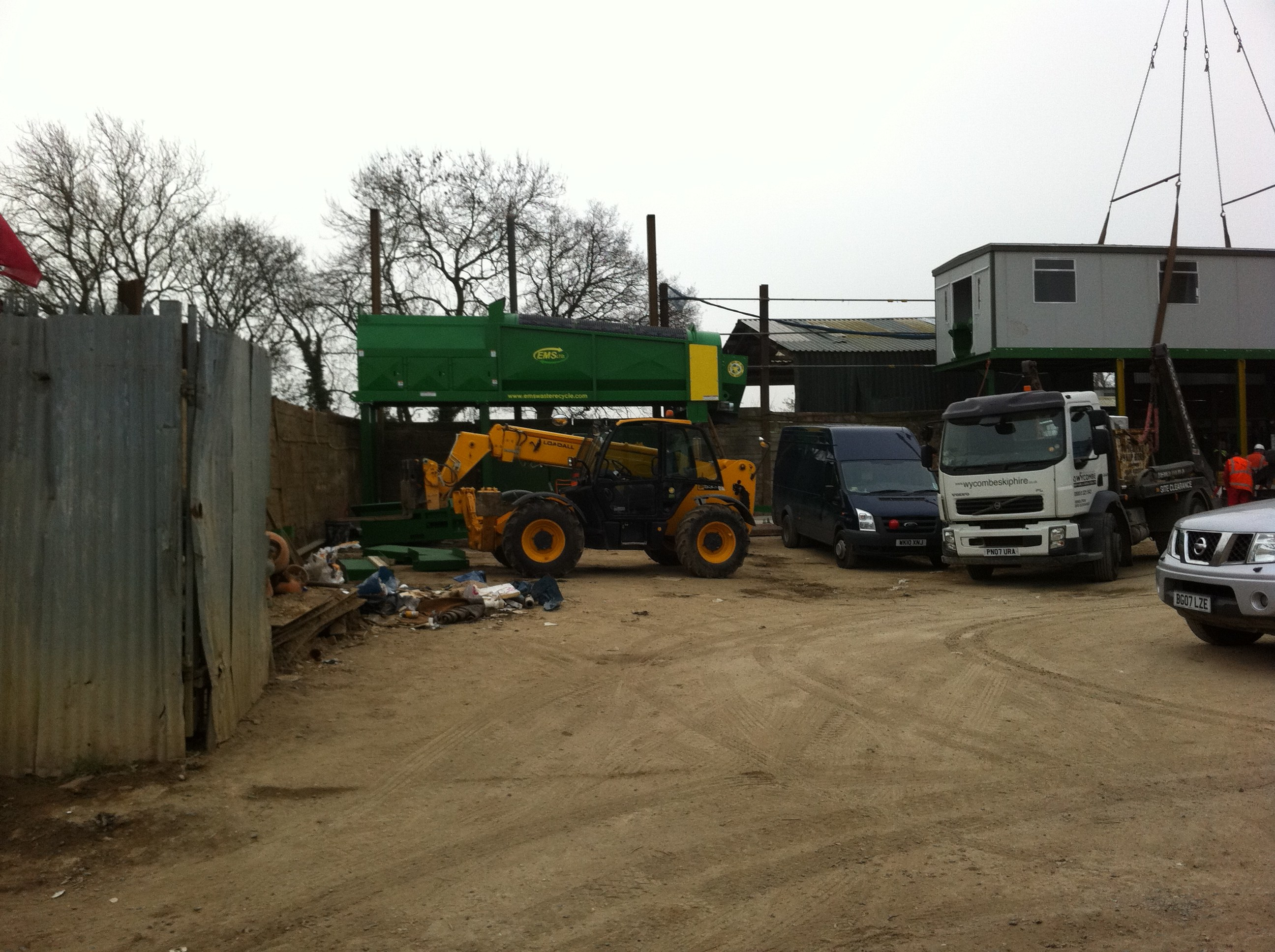 Recycling Plant being installed
